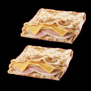 2 Блинчика с ветчиной и сыром