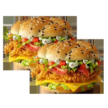 2 Шефбургера Де Люкс по цене 1