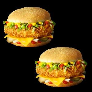 2 Чизбургера Де Люкс по цене 1