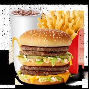 Большой МакКомбо Двойной Биг Мак в МакДональдс