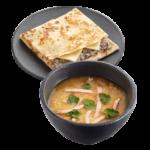 Суп гороховый с копченостями + Блин E-mail с грибами и сыром