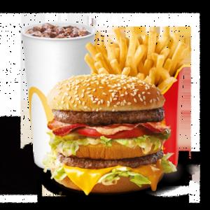 Большой МакКомбо Биг Мак Бекон-Томат-Салат в МакДональдс