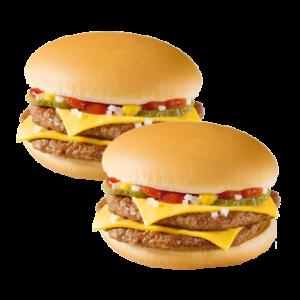 Два Двойных Чизбургера за 179 рублей