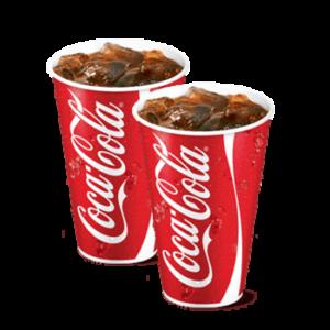 Два Газированных напитка 0,4 литра со скидкой