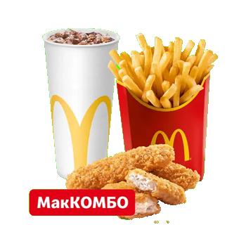 Куриные Стрипсы 3 шт. МакКомбо Большой