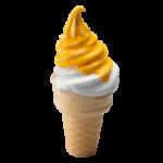 2 Мороженого в рожке маракуйя-манго