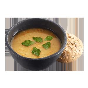 Суп гороховый постный с булочкой в Теремке