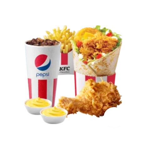 БоксМастер + Картофель Фри стандартный + Газированный напиток 0,8 литра + Куриные ножки (1 шт.) + 2 Соуса на выбор